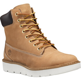 "Timberland Kenniston Lace Up Boots Women 6"" Wheat Nubuck"